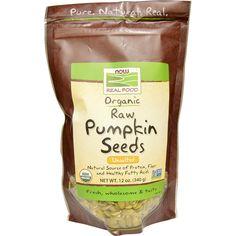 Now Foods, Organic, Raw Pumpkin Seeds, Unsalted, 12 oz (340 g) - iHerb.com