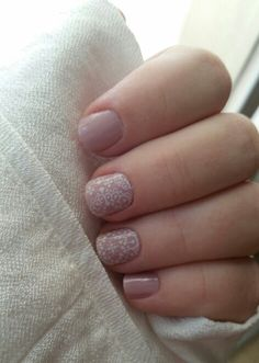Jamberry Manicure, Daydream layered with Whisper