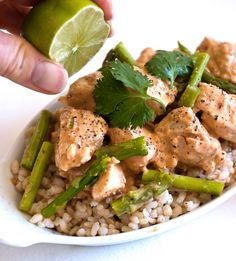 Chicken with Coconut-Lime Peanut Sauce - Marla Meridith - MarlaMeridith.com