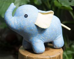 """Stuffed elephant pattern & tutorial  Finished Size: 9""""H × 12""""L (23cm × 30cm)  Skill level: the tutorial is detailed, but some basic skills in sewing are required.  Please NOTE this is a PDF FILE ONLY and not a finished product. No returns and refunds for pattern purchase.  You can sell the finished products that made from this pattern, but do not resell or share itself.  This downloaded file (PDF, 15pages, 14.1MB) includes: - Full size pattern - A list of material requirements - Full step by…"""