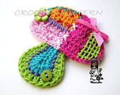 Crochet heart from my patchwork world by VendulkaM on Etsy