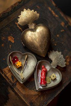 Antique Large Milagro Heart Box - Mothology.com