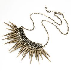 Spike Drops Necklace