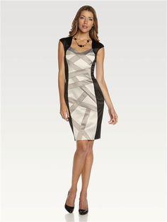 Ribbon Panelled Sheath Dress Sheath Dress, Ribbon, Dresses For Work, Style, Fashion, Latest Fashion, Tape, Swag, Moda