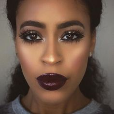 Shop this Instagram from @swlcollection https://swl-cosmetics-collection.myshopify.com/  African American makeup, hair, beauty
