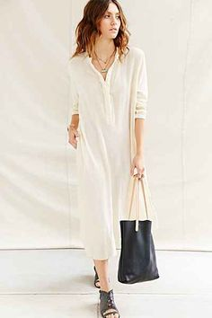 Inspiration for a Liesl + Co Gallery Tunic + Dress for summer. Try cotton gauze for a similar look.