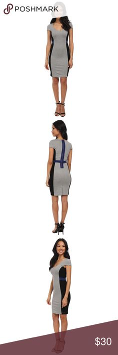 French Connection Manhattan Dress A graphic colour-blocked dress that shaves inches off the figure. Cut from figure-hugging stretch-jersey, our Manhattan dress is sure to make an impression. Wear it to parties with heels and a clutch.                                                                          Colour-block stretch-jersey dress Bodycon fit Exposed zip fastening along back.                           Dress is in like New Condition French Connection Dresses Mini