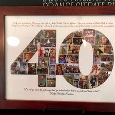 Forty 40 fortieth Big Thirty 30 twenty-One 21 Special Birthday Digital Printable Custom Any 1 or 2 digit Number Photo Collage Photo Direct, Collage Design, Photo Wall Collage, Pet Loss, Print Store, Special Birthday, Pet Memorials, Service Dogs, Twenty One