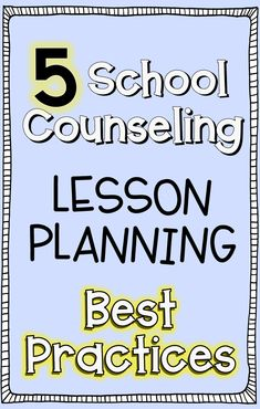 Elementary School Counseling: Lessons I've learned and lessons I've created!
