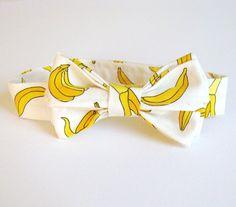 Yellow Banana Print Boys Bow Tie - Fun Whimsical Children's Accessories. $28.00, via Etsy.