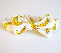 Yellow Banana Print Boys Bow Tie - Fun Whimsical Children's Accessories. $28.00, via Etsy.
