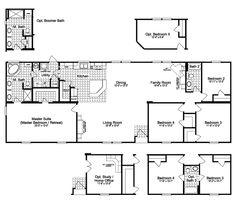 Quadruple Wide Mobile Home Floor Plans 5 Bedroom 3