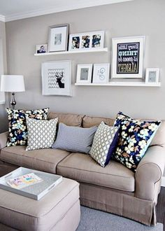 Wall Decor Behind Couch . 30 Awesome Wall Decor Behind Couch . Decorate Your Living Room with these 14 Inspiring Wall Ideas Cozy Living Rooms, My Living Room, Apartment Living, Home And Living, Living Room Decor, Living Spaces, Small Living, Cozy Apartment, Apartment Ideas