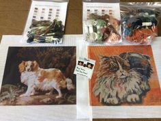 Cat and Dog Art #Needlepoint Canvases