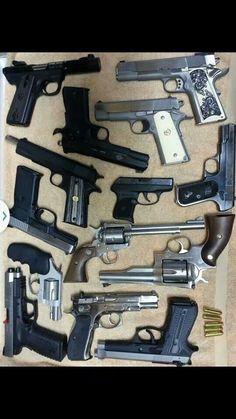 Handguns, lots of handguns!