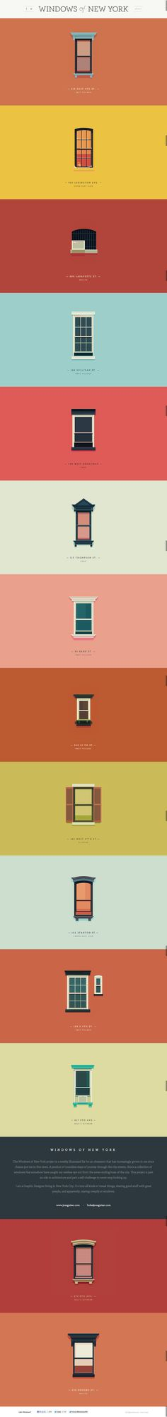 Windows of New York | A weekly illustrated atlas | by Jose Guizar