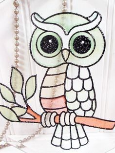 Stained Glass Birds, Stained Glass Suncatchers, Stained Glass Designs, Stained Glass Projects, Stained Glass Patterns, Embroidery Motifs, Hand Embroidery Designs, Diy Embroidery, Owl Patterns