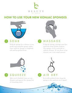 How do you use konjac sponges