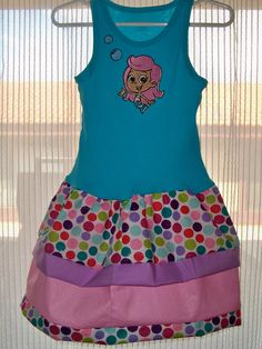 Bubble Guppies Tank Top Dress by SewHapDesign on Etsy, $28.00    Gianna is going to be so excited!