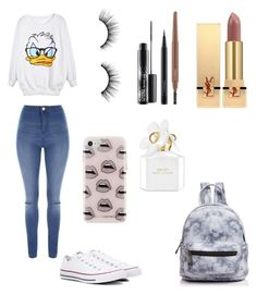 """""""Look #18"""" by anaissantana on Polyvore featuring Rebecca Minkoff, Street Level, Yves Saint Laurent, MAC Cosmetics, tarte, Marc Jacobs, Jane Norman and Converse"""