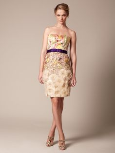 Carolina Herrera  Woven Jacquard Sequin Embroidered Tulle Dress  $1,999 Gilt