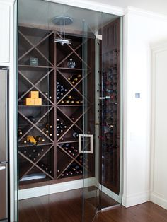 Could also do as walk in pantry; Walk-In Wine Cellar