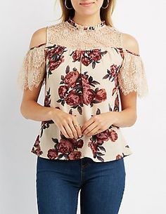 Designer Clothes, Shoes & Bags for Women Casual Tops, Casual Wear, Sewing Blouses, Modelos Fashion, Ford, Cold Shoulder Blouse, Summer Blouses, Long Tops, Short Sleeve Blouse