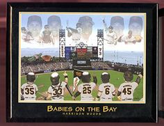 Babies On The Bay SF Giants Harrison Woods Framed Baseball Painting Photo Poster