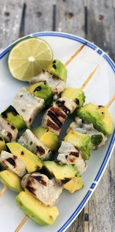 Think outside the chicken kebab. These beauties alternate grilled tuna… | Spark | eHow.com
