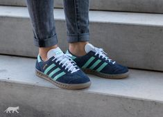 premium selection 48a2f c7f55 adidas Hamburg W (Midnight Grey  Easy Green  Gum)