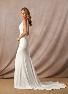 Shop Azazie Wedding Dress - Azazie Destiny BG in Tulle and Jersey and Crepe. Find the perfect wedding dress for your big day. Available in full size range and in custom sizing at Azazie. Sexy Wedding Dresses, Perfect Wedding Dress, Wedding Gowns, Budget Bride, A Line Gown, Custom Dresses, Tulle Dress, Bridal Gowns, Bridal Shoes