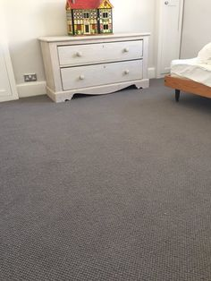 A Kingsmead carpet, fitted in a bedroom, by C Marshall Flooring.