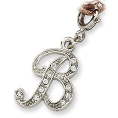 1928 Boutique Silver-tone Crystal Initial B Spring Ring Charm - 1928, BOUTIQUE, Charm, Crystal, Initial, Ring, Silvertone, Spring http://designerjewelrygalleria.com/1928-jewelry/1928-rings/1928-boutique-silver-tone-crystal-initial-b-spring-ring-charm/