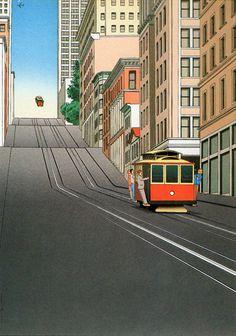 San Francisco by Guy Billout