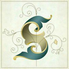 Letras tipografia s diseño minimalista