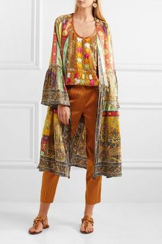 Etro | Printed plissé washed-silk jacket | NET-A-PORTER.COM