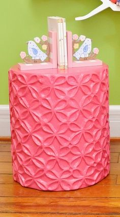 super pink side table or stool!