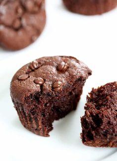 Flourless Chocolate Peanut Butter Muffins | Gluten Free on a Shoestring