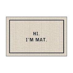 Hi! I'm Mat Doormat...cute @ Target