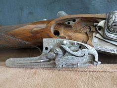 Cajeado y llave de escopeta Victor Sarasqueta