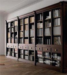 Книжный шкаф, La Ebanisteria Bookshelf Bed, Old Bookshelves, Display Shelves, Storage Shelves, England Furniture, Bookcase With Glass Doors, Home Library Design, Library Wall, Front Office