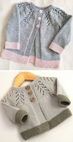 Amazing Knitting provides a directory of free knitting patterns, tips, and tricks for knitters. Baby Cardigan Knitting Pattern Free, Crochet Baby Dress Pattern, Knitted Baby Cardigan, Knit Baby Sweaters, Baby Afghan Crochet, Baby Hats Knitting, Knitting For Kids, Baby Knitting Patterns, Knitting Designs