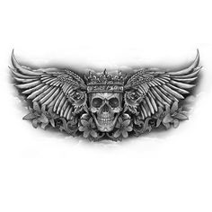 Chest Tattoo Wings, Cool Chest Tattoos, Chest Piece Tattoos, Pieces Tattoo, Skull Hand Tattoo, Skull Tattoos, Forearm Tattoos, Chest Tattoo Skull, Eagle Chest Tattoo
