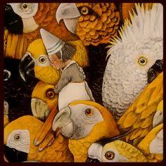 by petra_van_hamme: #birds #books #gallery #stpietersabdij #art #CarllCneut #InMyHead #ghent #visitgent #instagent
