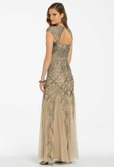 Long Sequin Mesh Dress with Godets from Camille La Vie and Group USA #homecoming #homecomingdresses #prom