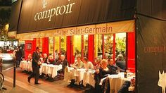LE COMPTOIR at Hotel Le Relais Saint Germain • Paris, FRANCE • This place is about the amazing cuisine! It is full day and night. The no-reservation lunches are fantastic with a great array of salads, platters of cheese, and good wines by the glass. Dinner offers a single menu of divine creations often regarded as the best in the world. • 01–44–27–07–50 • www.hotel-paris-relais-saint-germain.com/flash/us/index.html