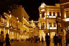 Nizami Road bathed in light - Baku by night - Baku, Azerbaijan (3)