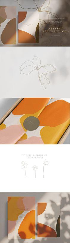Papeterie & Typography Artisan Abstract - Artistic Bundle by Laras Wonderland on Creative Market Abstract Shapes, Abstract Pattern, Geometric Shapes, Abstract Flowers, Geometric Patterns, Water Abstract, Abstract Designs, Flower Watercolor, Abstract Logo