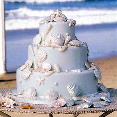 Coastal Wedding Cake