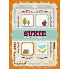 Sukie Box of Labels: With a fantastic mix of vintage paper and imaginative illustrations, the UK-based design team Sukie brings a uniquely nostalgic and handcrafted feel to this delightful line of stationery and gift products. Sticky Labels, Gift Labels, Book Gifts, Gift List, Vintage Paper, Paper Goods, Holiday Gifts, Stationery, Presents